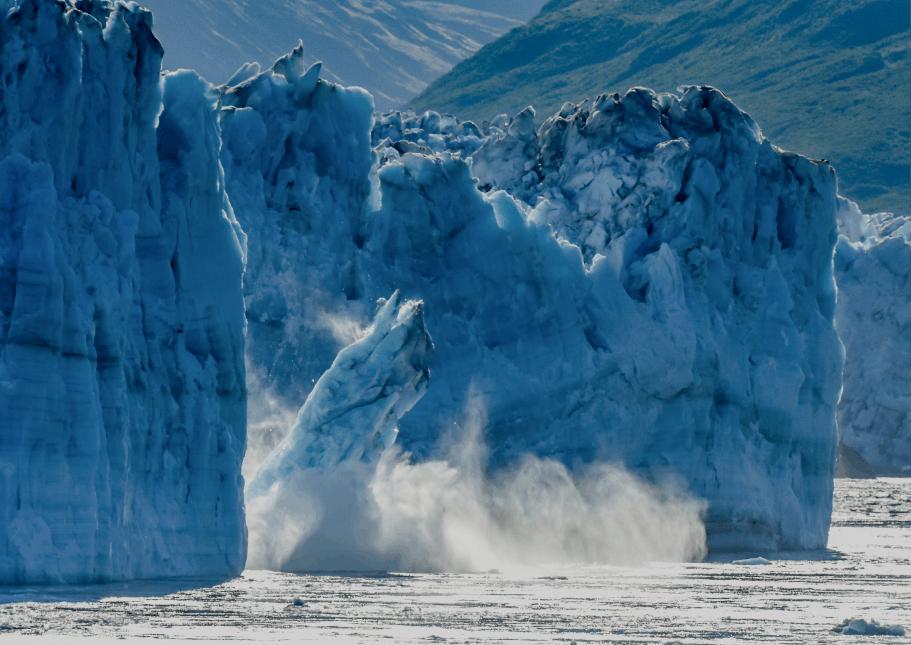 Decorative: Glacier falling due to climate change