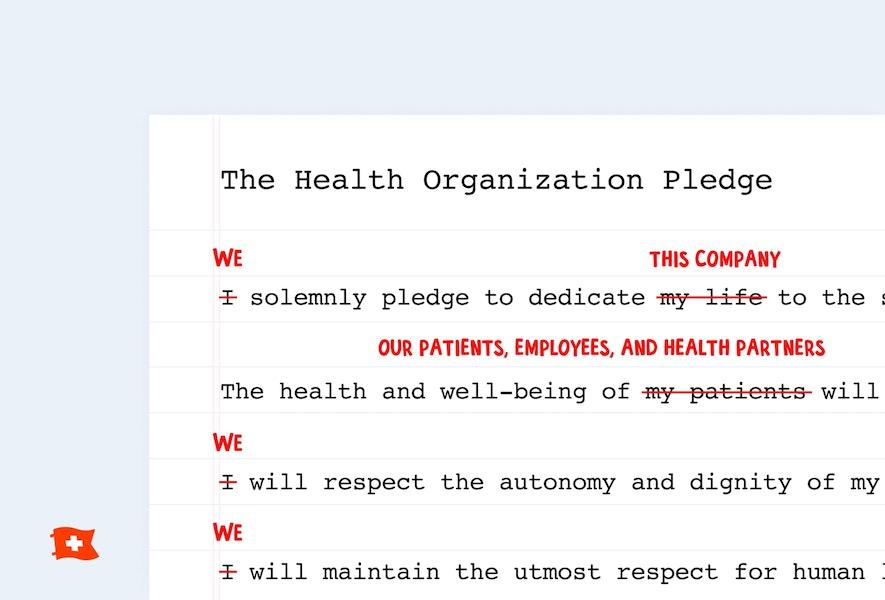 The Health Organization Pledge