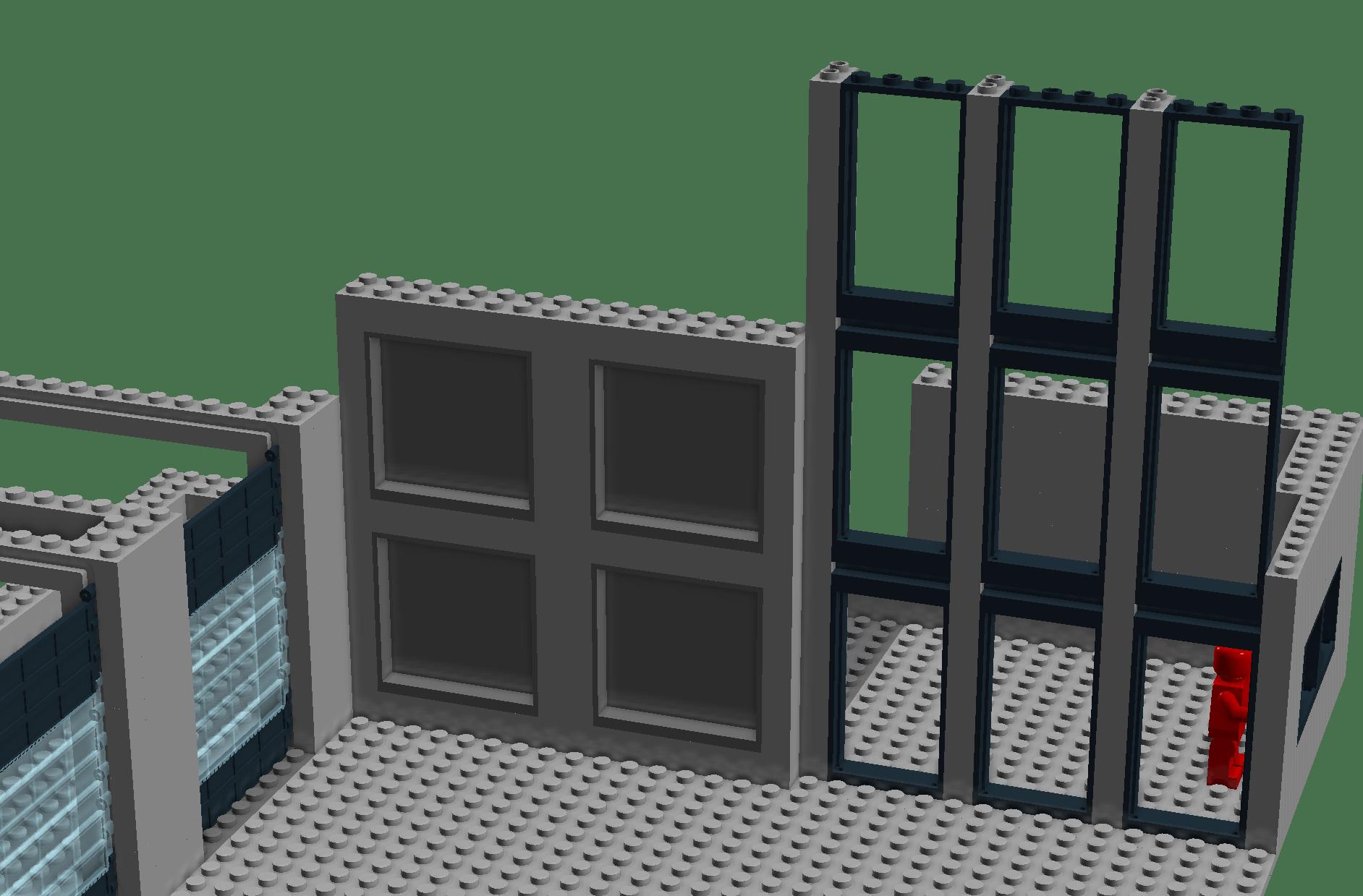 entrance facade of YOYO Global Freight in LEGO