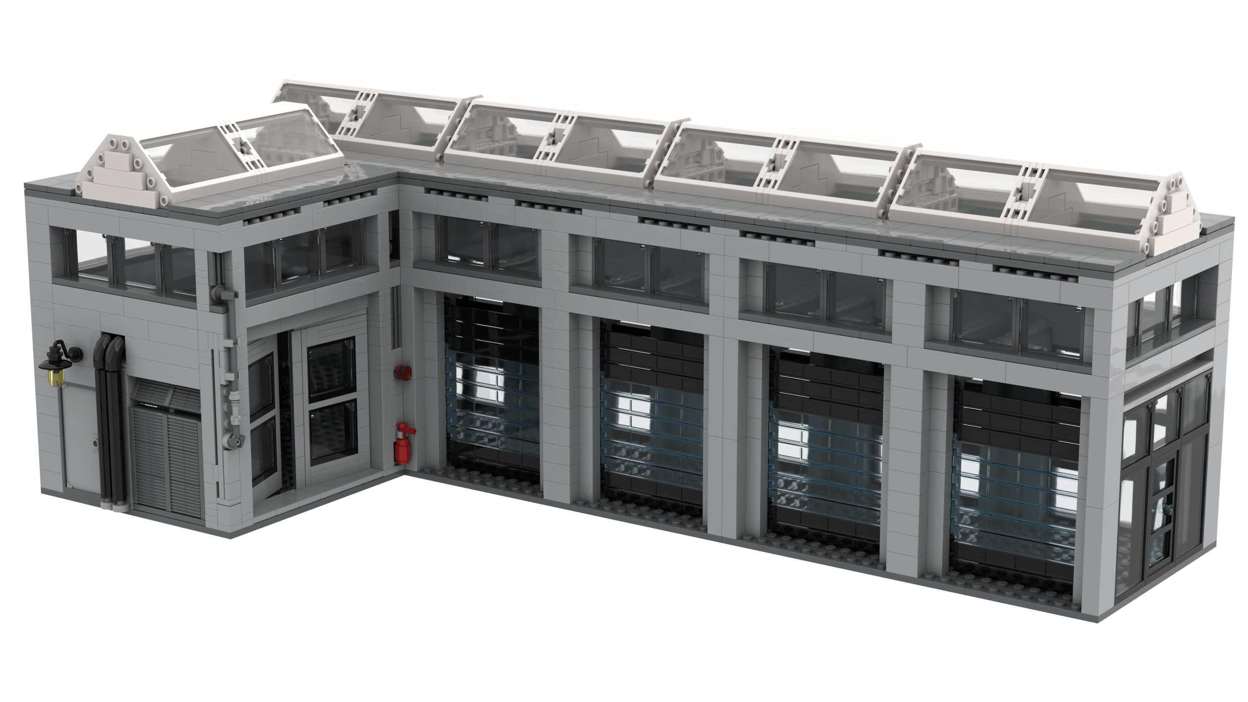 3D render of the Logistics Terminal MOC not final design. Rendered using Stud.io.
