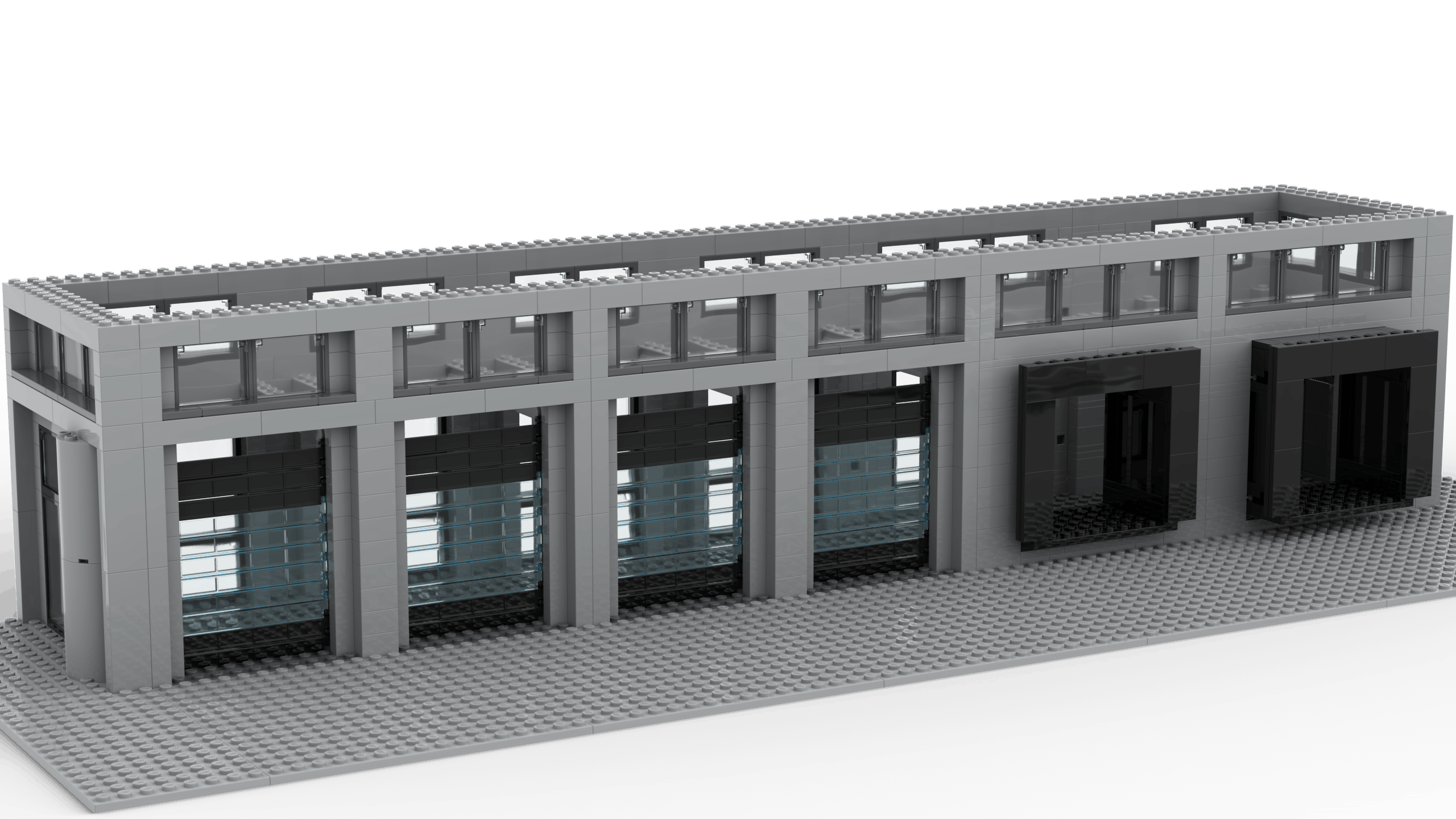 3D render of the Logistics Terminal MOC. Rendered using Stud.io.
