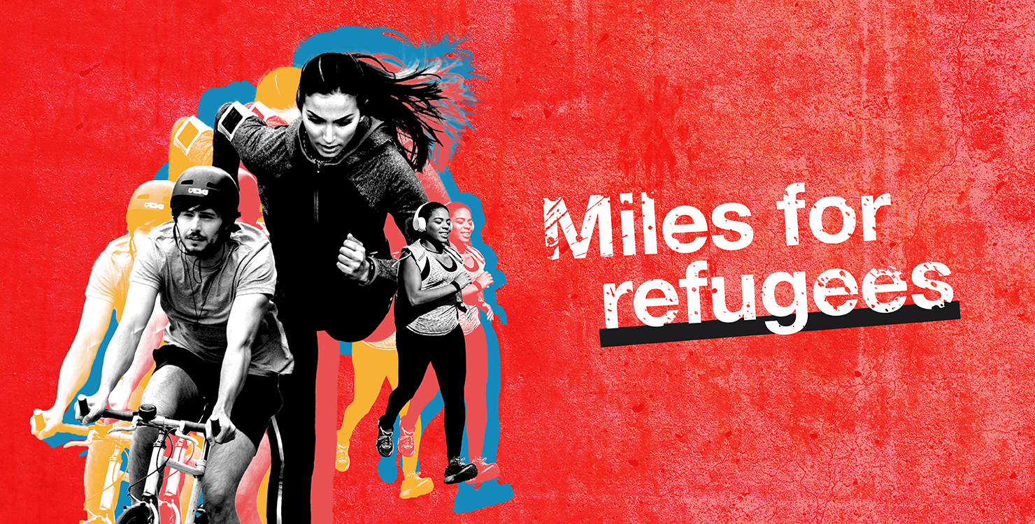 Miles for refugees banner