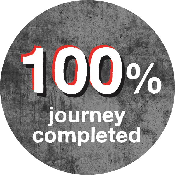 100% journey completed