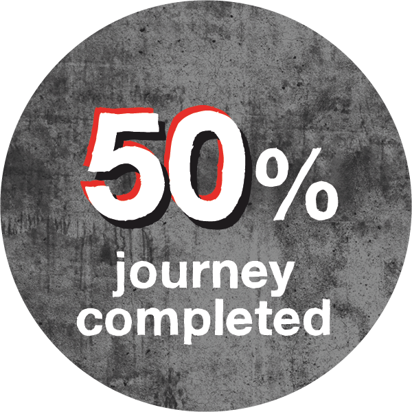 50% journey completed