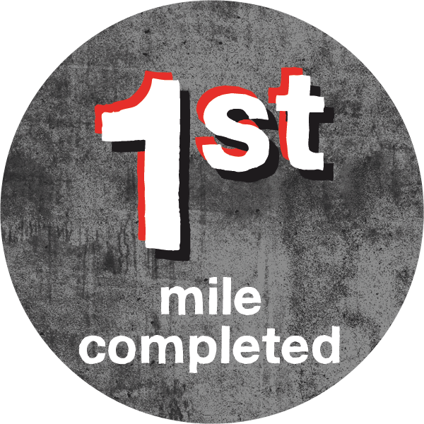 1st mile completed