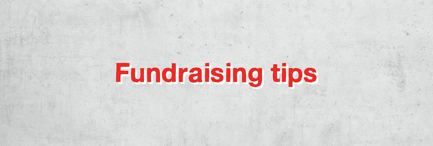 Miles for refugees banner - fundraising tips