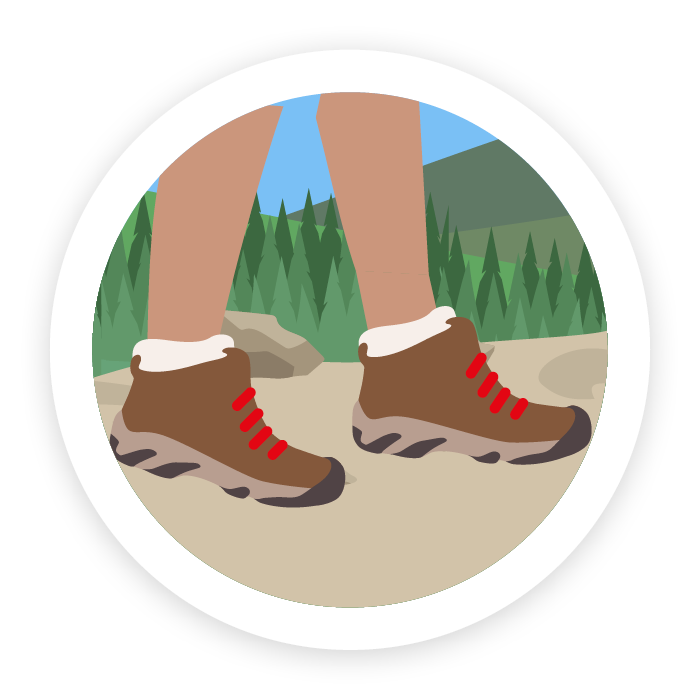 Icon of walking boots