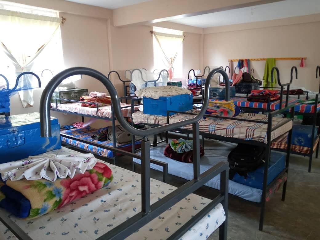 Inside the dormitory