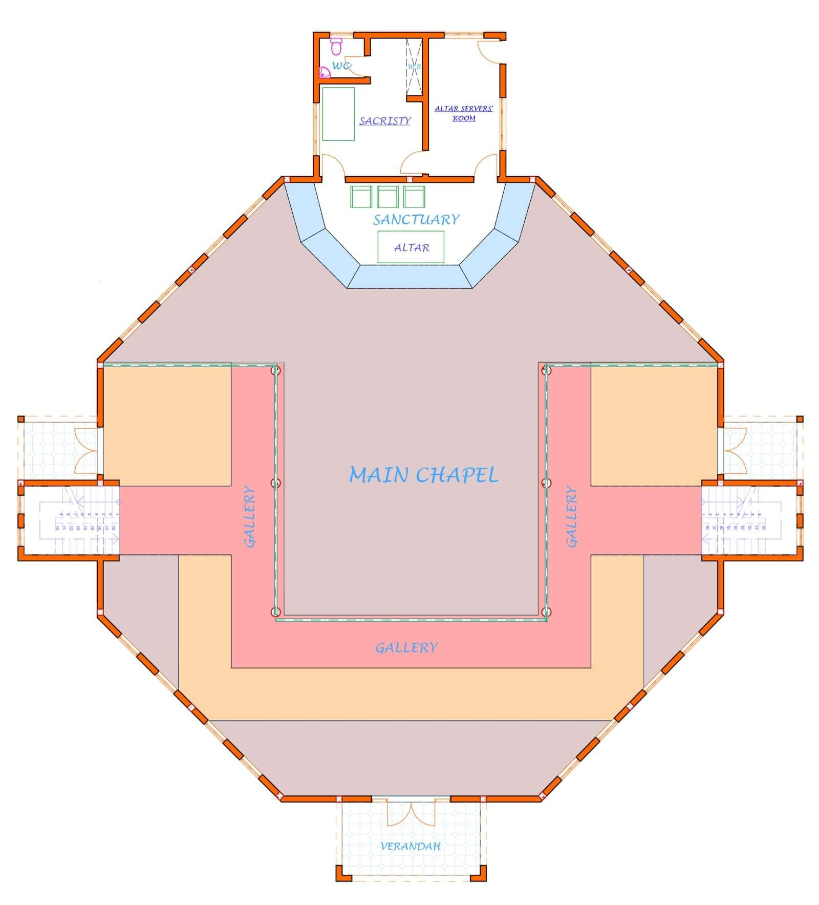 Interior plans of the chapel