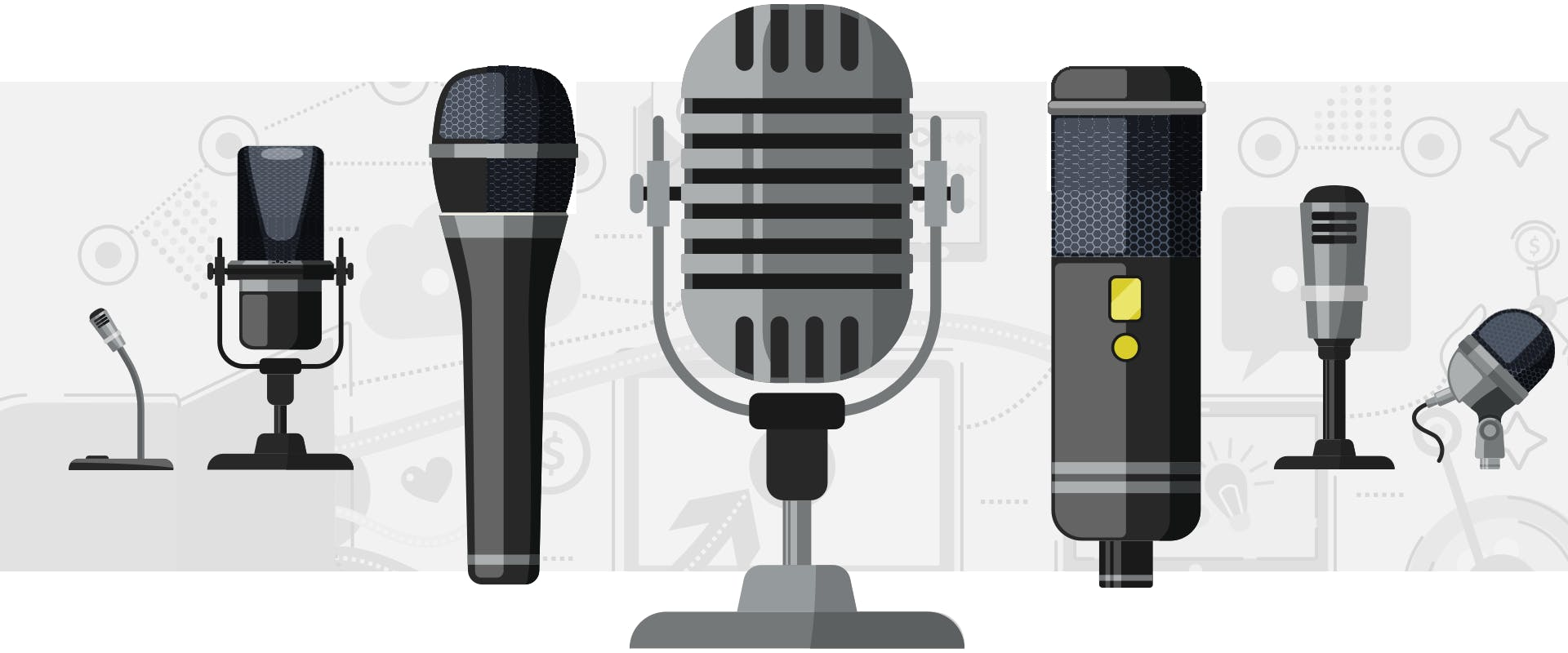 usb and xlr microphones