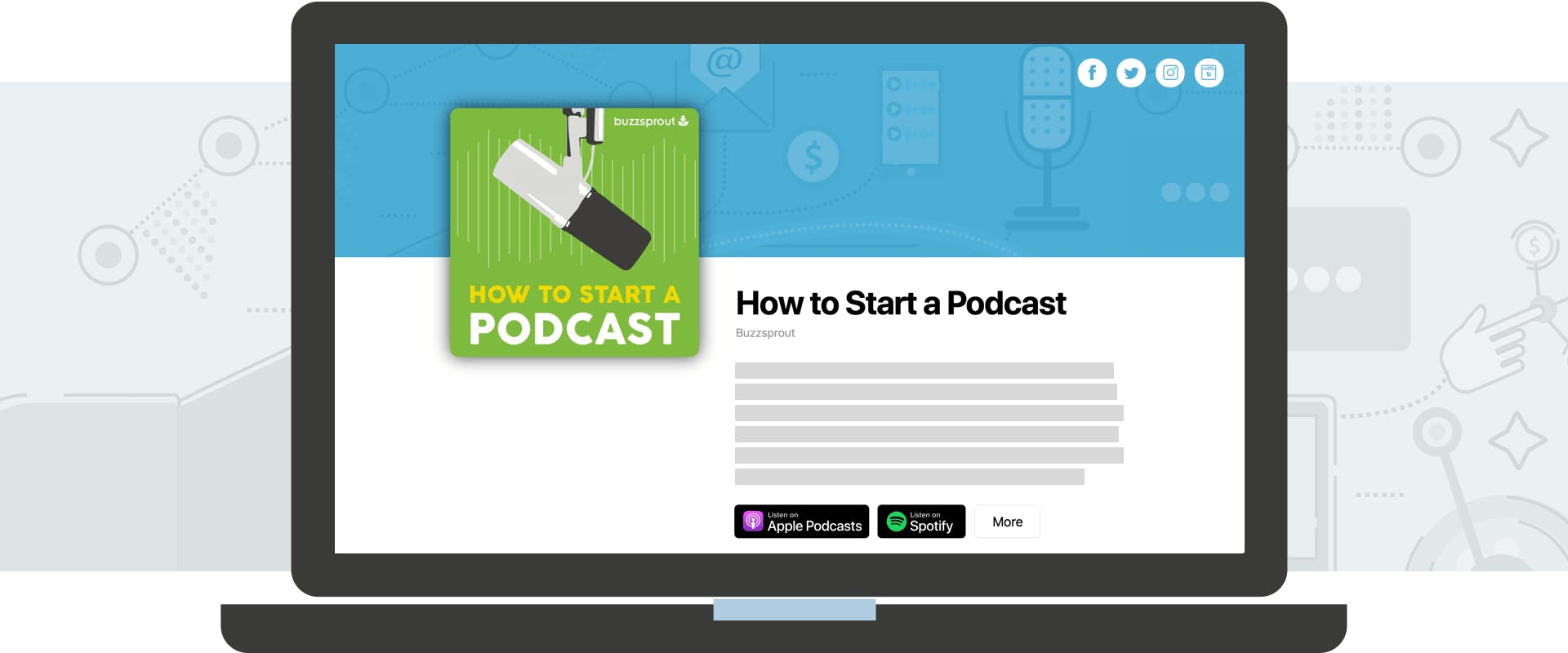 Buzzsprout podcast site example