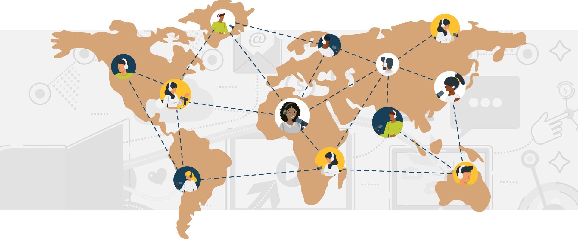 Podcast Network around the entire globe