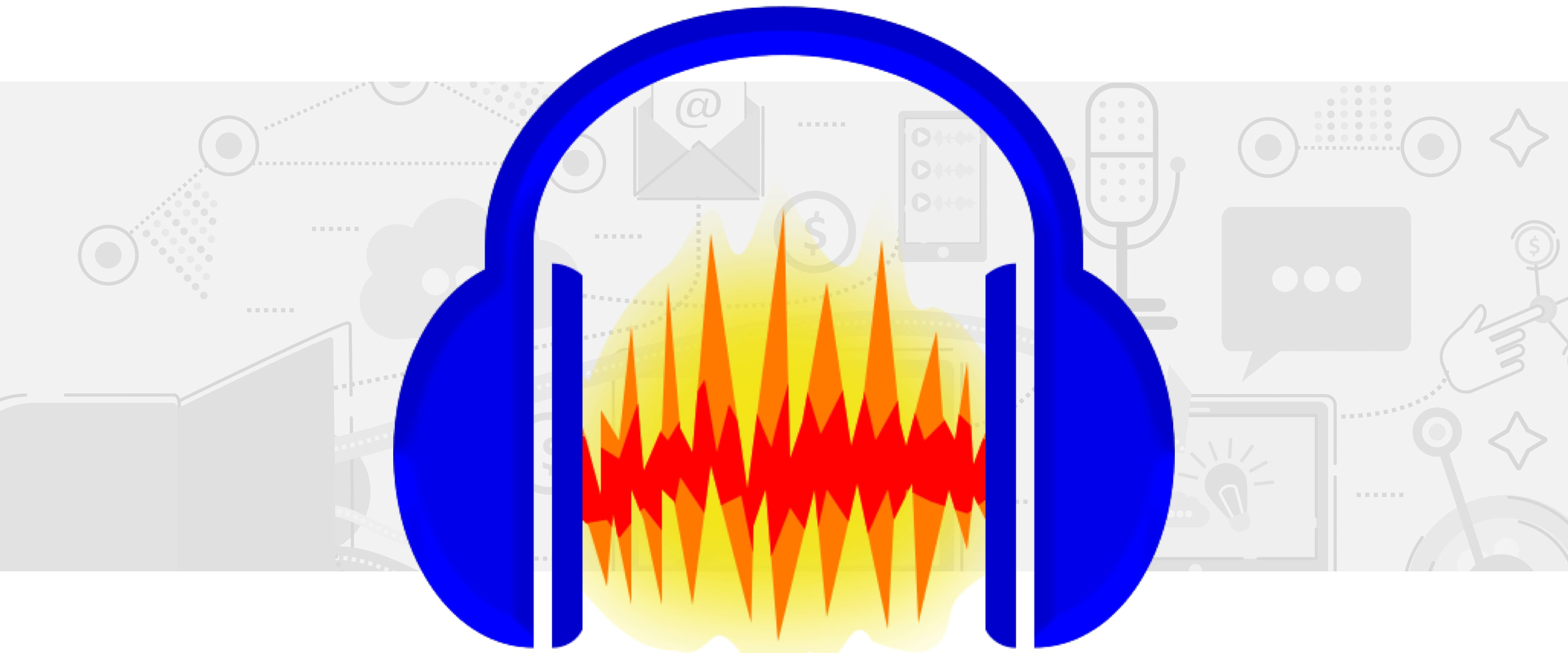 Audacity icon with blue headphones and waveform