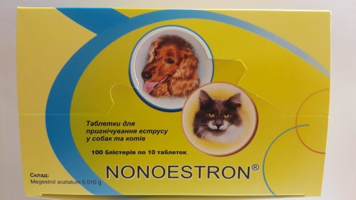 Nonoestron - a box of 100 blisters of 10 tablets
