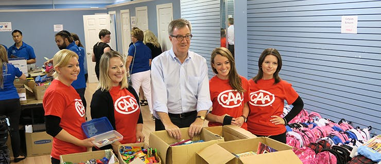 A picture of Mayor Jim Watson and CAA team members