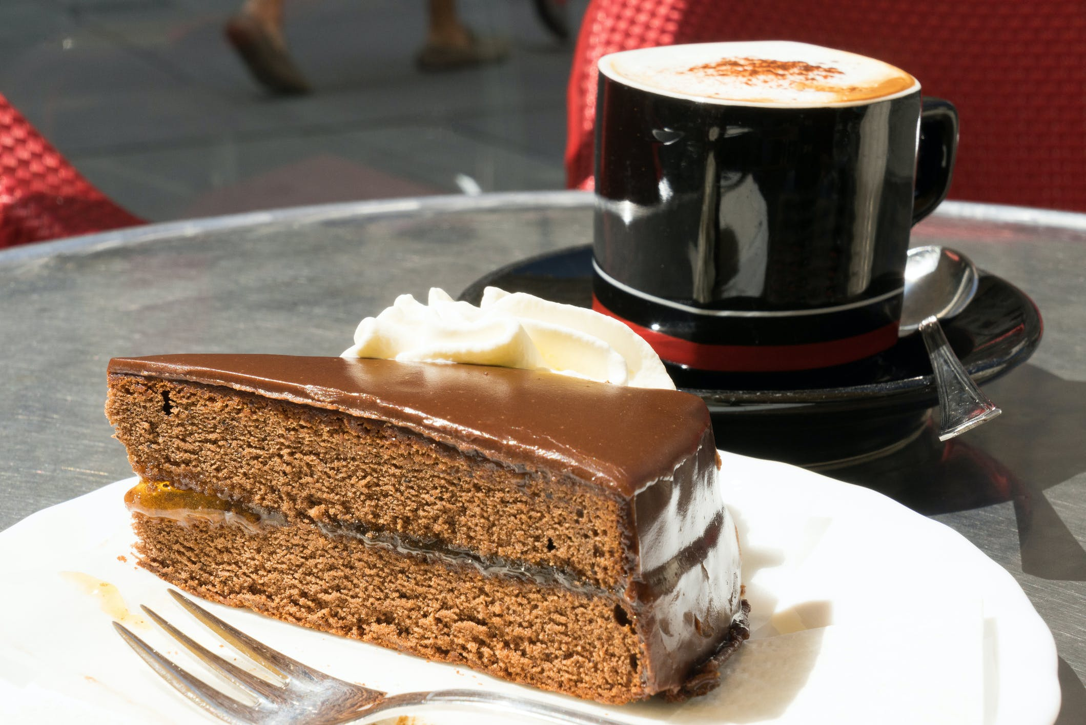 Sachertorte cake from AmaWaterways
