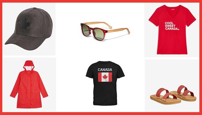 Canada day clothing from CAA Rewards partners - baseball cap, sunglasses, t-shirts, raincoat and shoes!