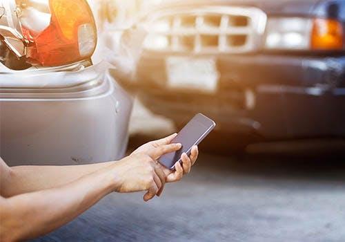 car accident calling 911 CAA roadside