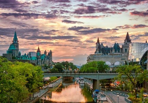 Ottawa Ontario Canada Rideau Canal Parliament Hill Chateau Laurier