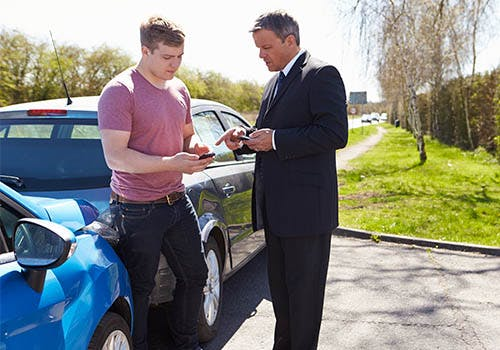 exchanging insurance information after accident