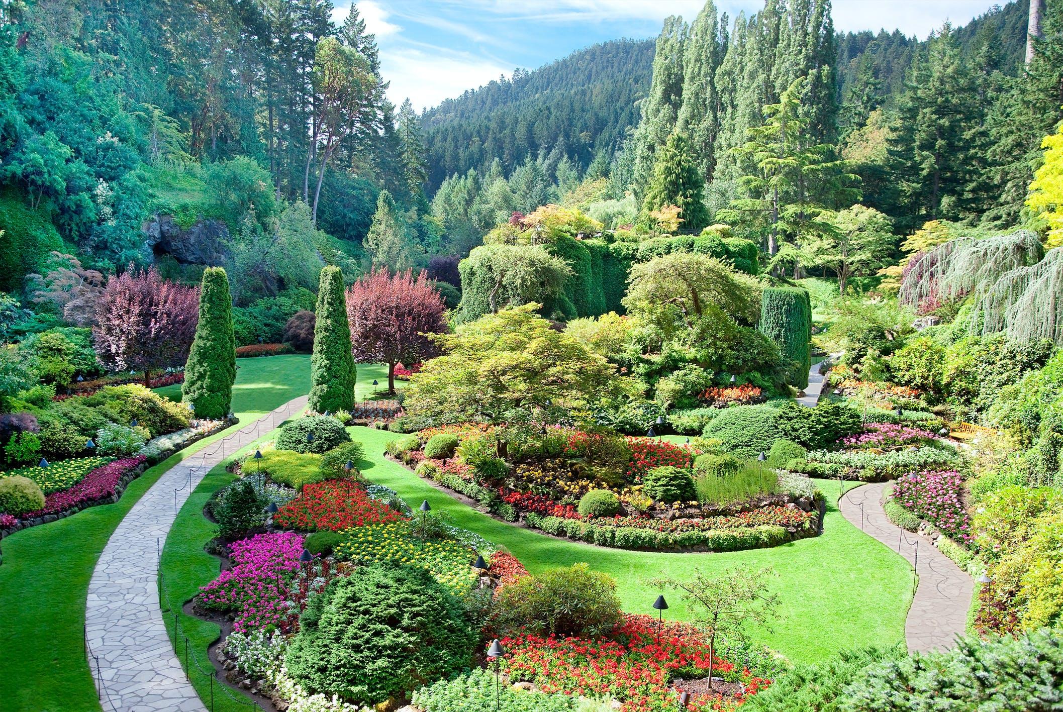 Butchart Gardens in British Columbia