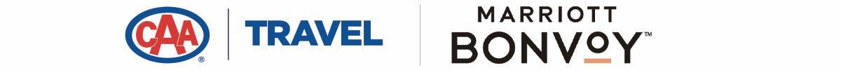 CAA Travel and Marriott Bonvoy logos