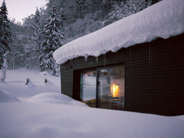 ferienhaus montafon nachhaltig cabin winter