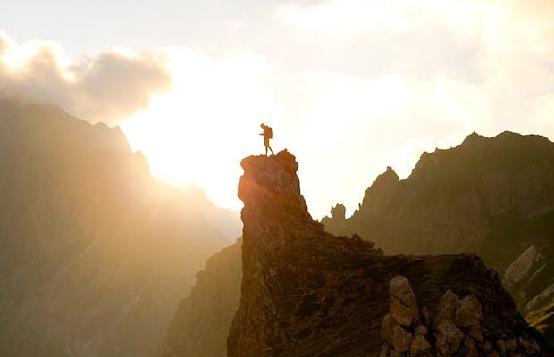 Urlaub Vorarlberg Sommer Lünersee Sonnenuntergang