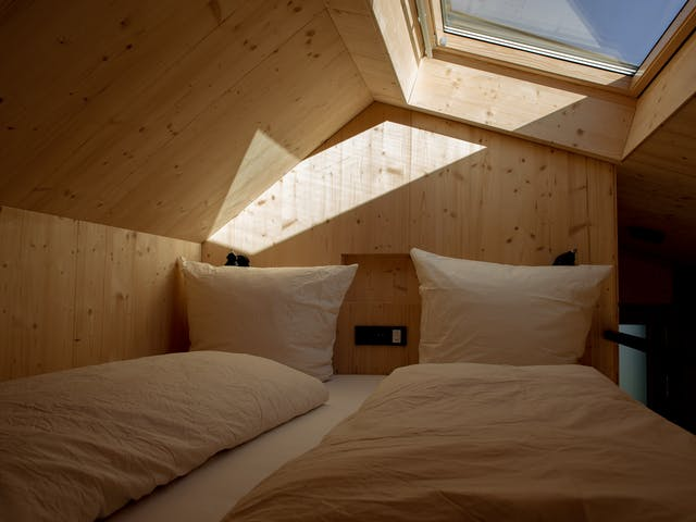Urlaub Vorarlberg Nachhaltig Cabin Loftbett