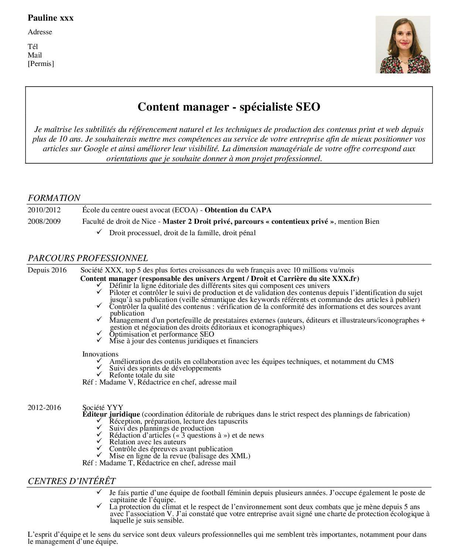 Présentation de CV classique