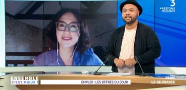 Vu sur France 3 Ile-de-France : réanimation et matelas, 2 histoires d'offres d'emploi à pourvoir sur Cadremploi