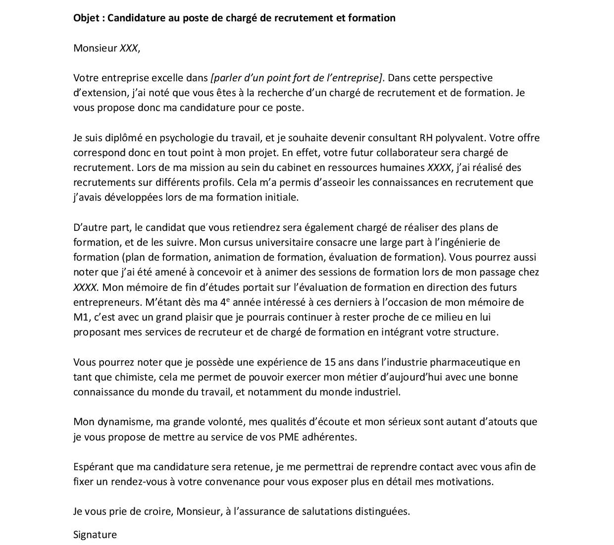 Exemple Lettre De Motivation Fongecif Reconversion: Lettre De Motivation Reconversion Professionnelle : 2 Bons