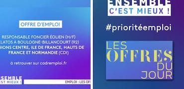 Vu sur France 3 Ile-de-France : l'éolien recrute et on vous le prouve avec des offres d'emploi