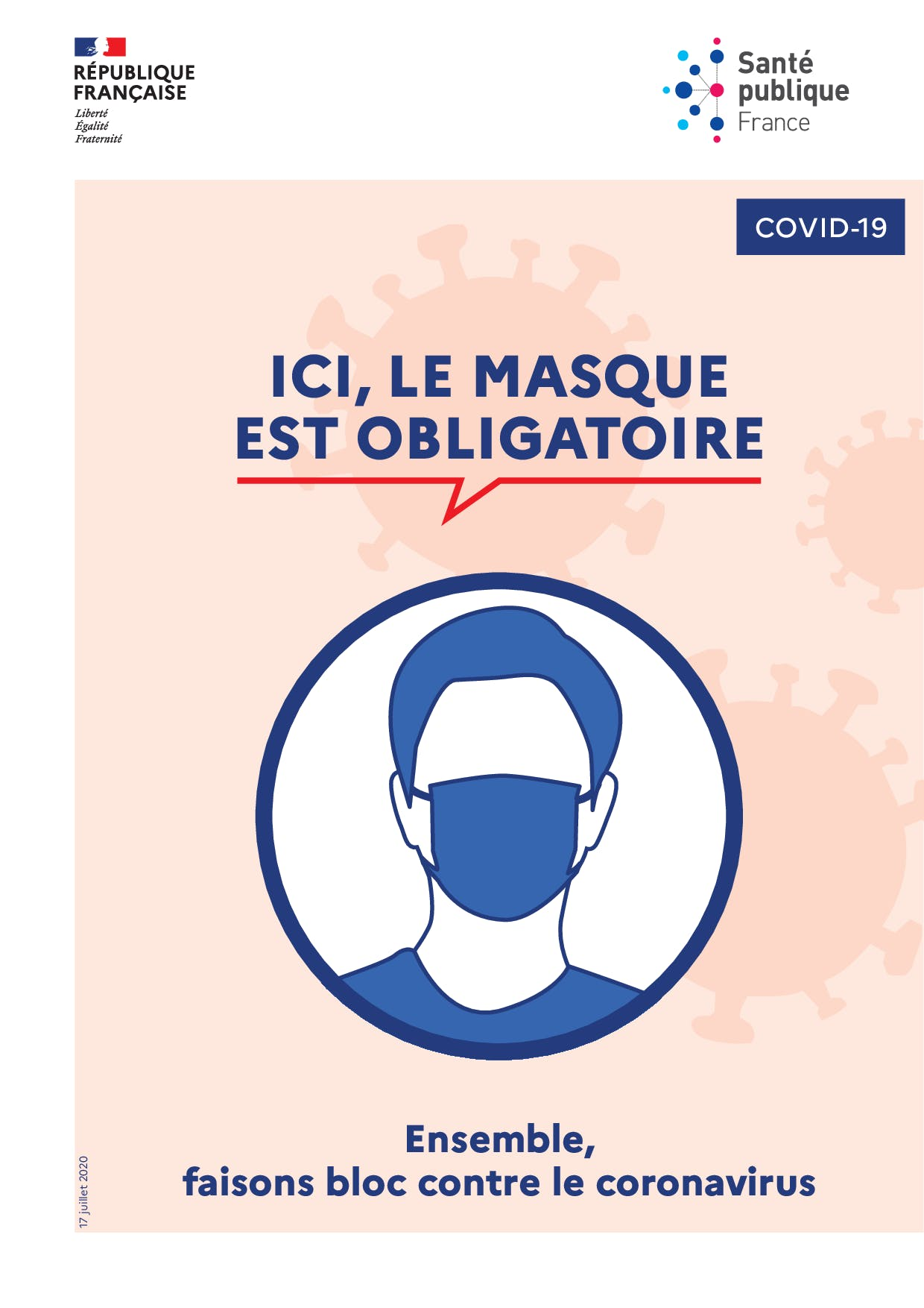 Logo du port du masque obligatoire