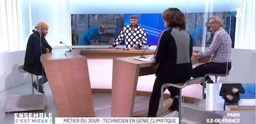 Vu sur France 3 Ile-de-France : les métiers du génie climatique recrutent en 2021