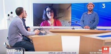 Vu sur France 3 Ile-de-France : acheminement de colis, 2 histoires d'offres d'emploi sur Cadremploi
