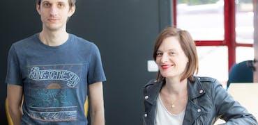 Céline Guézou et Florian Chaillou, responsable marketing et chef de projet innovation digitale chez Voyelle