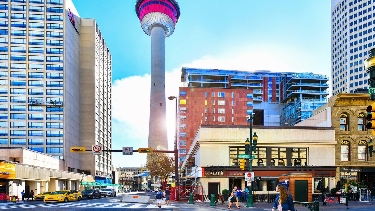 Summer in Calgary: Calgary Tower and Stephen Avenue