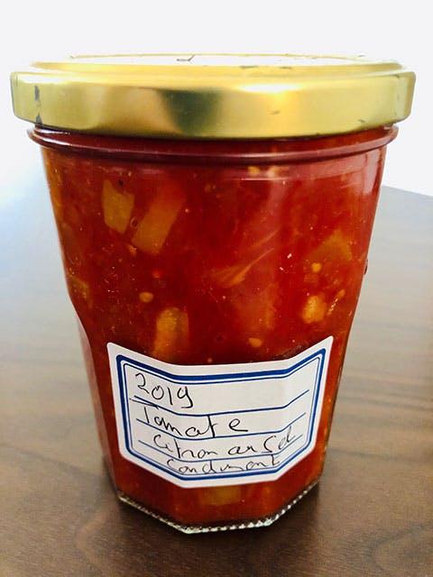 Condiment tomate, citron au sel - Yves Camdeborde