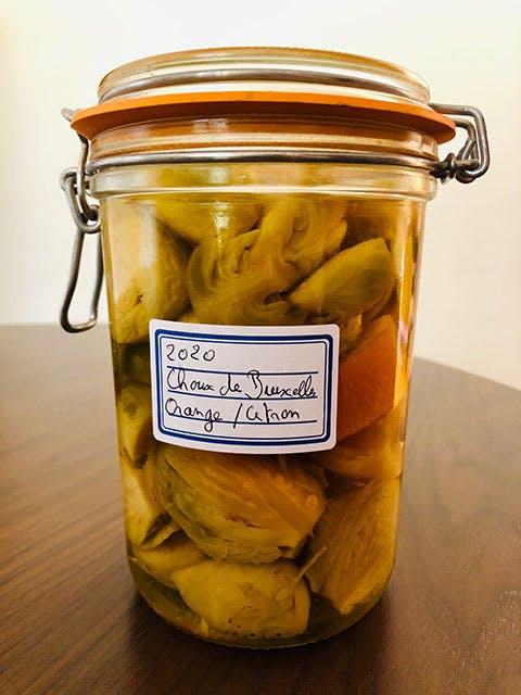 Bocal de choux de Bruxelles, citron jaune au sel - Yves Camdeborde