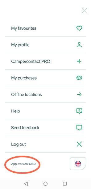 App version - Campercontact