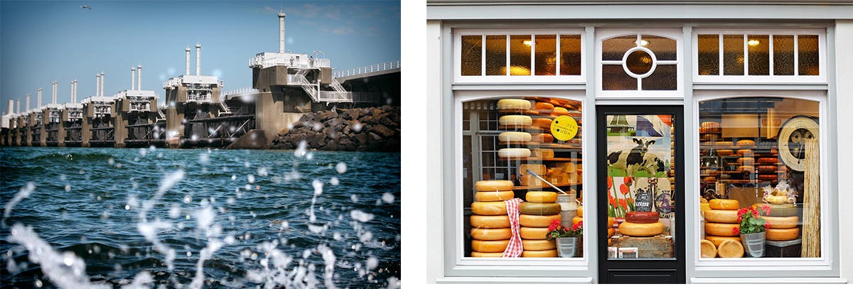 Campercontact country information - Delta Works, Zeeland vs. Cheese shop in Gouda