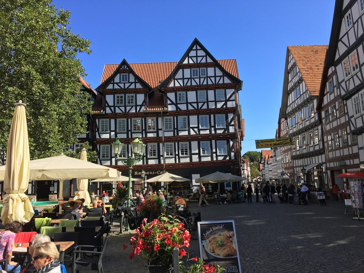 Campercontact country information - Timbered houses in Melsungen, East Germany