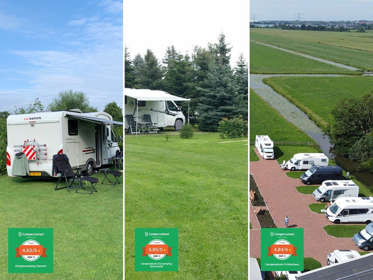 Wohnmobilstellplätze des Jahres 2021 - der Niederlande
