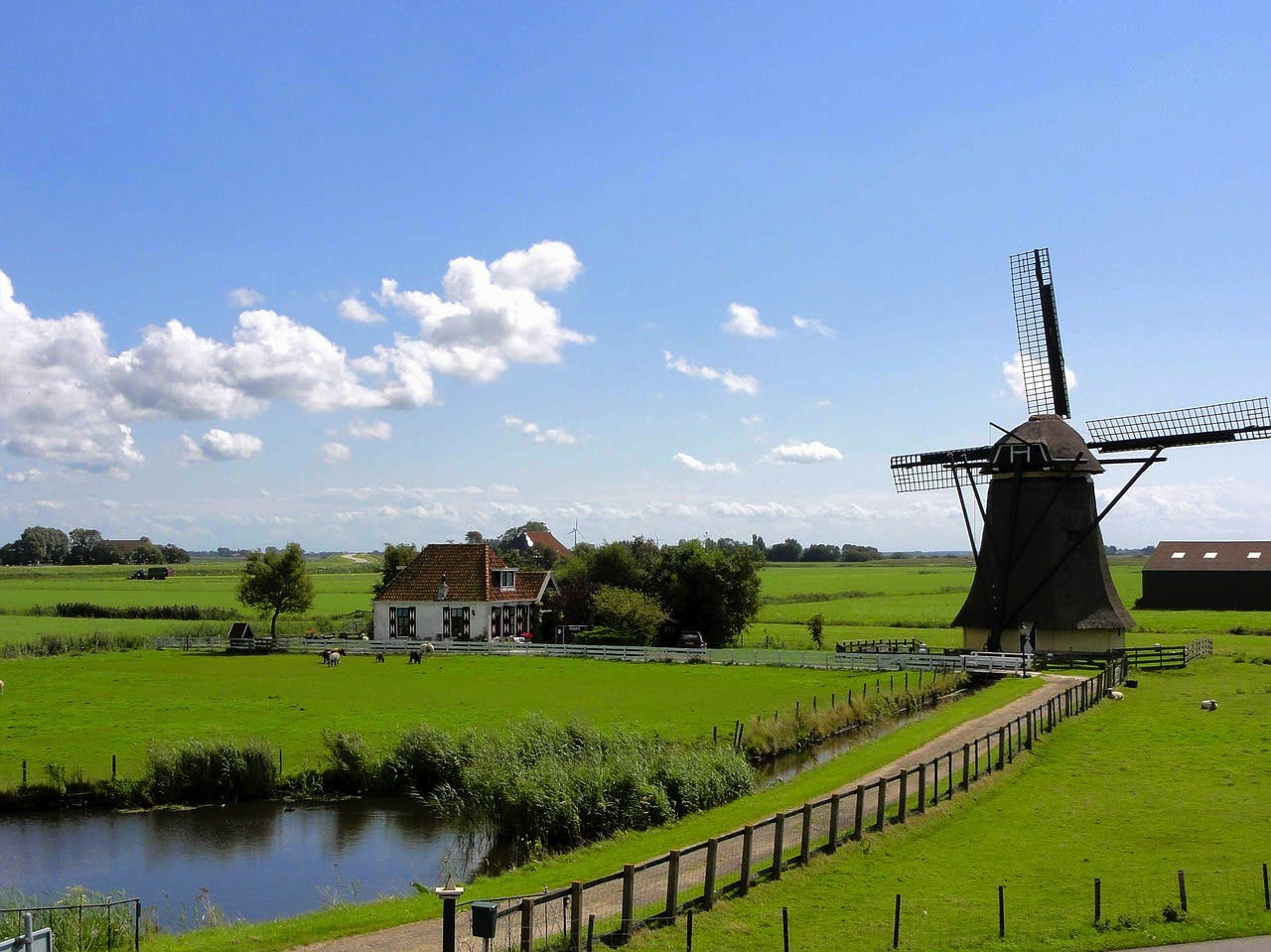Campercontact country information - Mills in the Dutch landscape