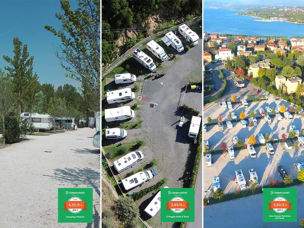 Wohnmobilstellplätze des Jahres 2021 - Italien