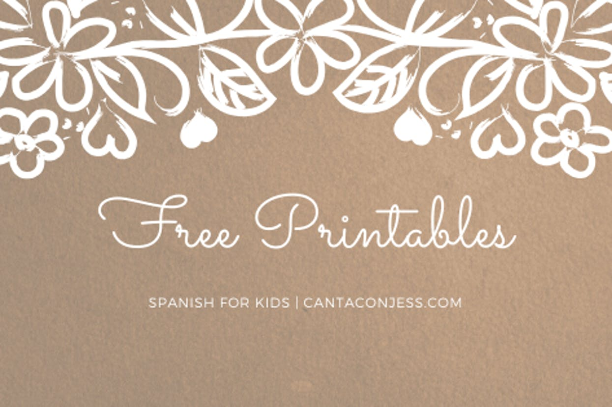 Free Printables to Learn Spanish - Spanish for Kids