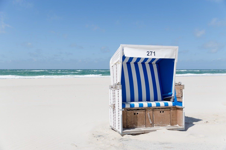 Leinwandbild Strandkorb 271
