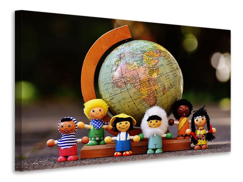 Leinwandbild Kinderwelt