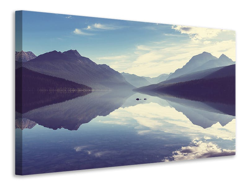 Leinwandbild Bergspiegelung